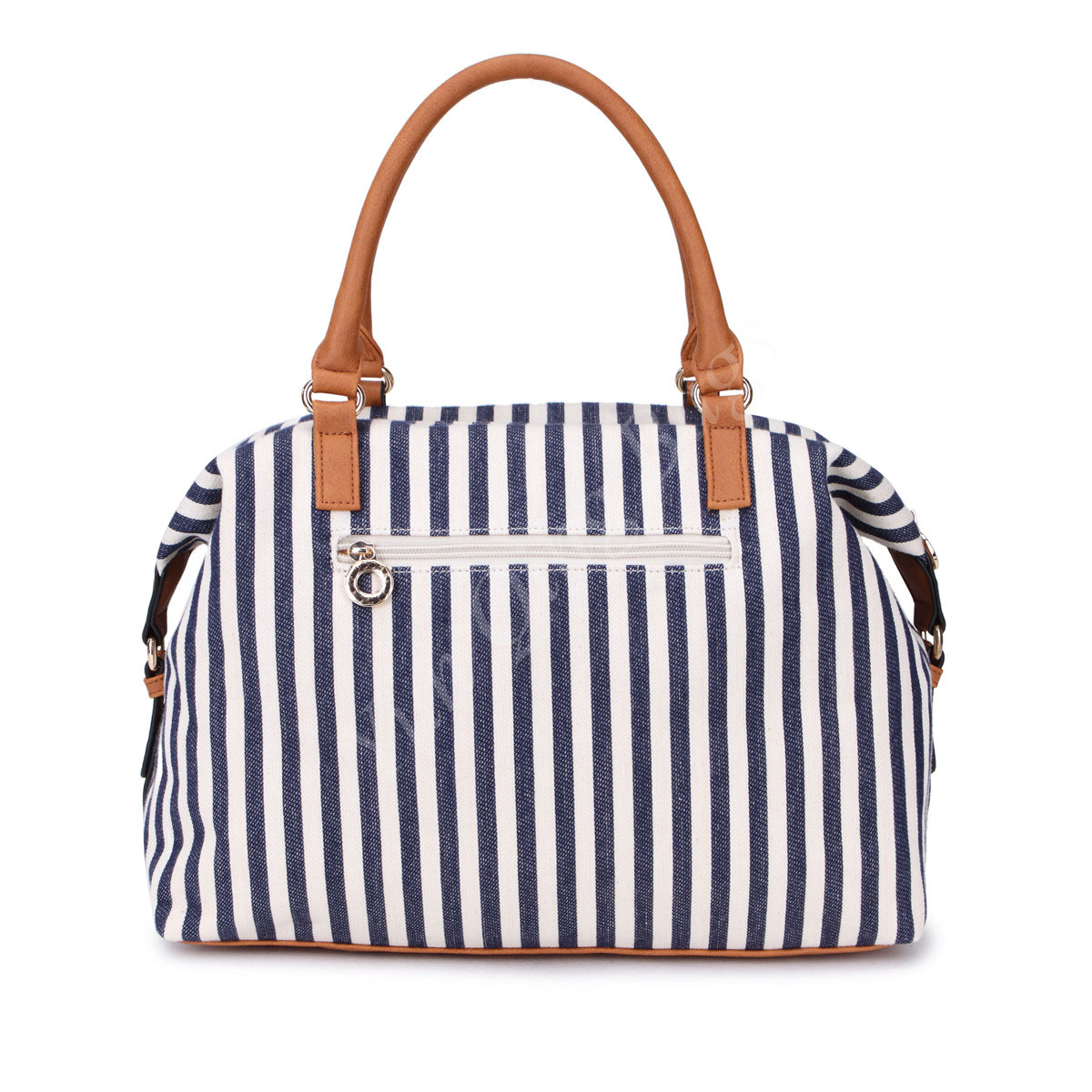 Printed Vertical Lines Fashion Ladies Handbag