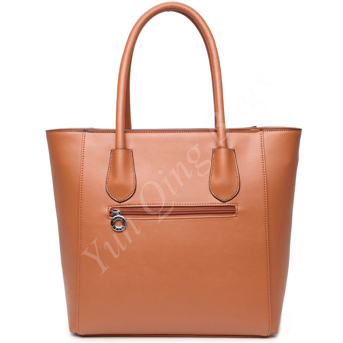 Classic Vertical Shopping Tote Handbag