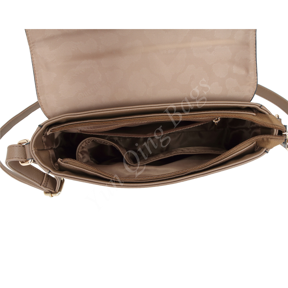 Fashion Crossbody Messenger Bag With Front Laser Hole