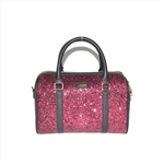Fashion Lady Boston Bag with Glitter