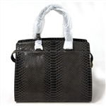 Genuine Leather Snakeskin Lady Handbag
