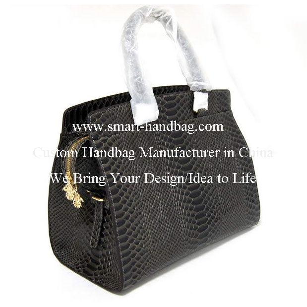 Genuine Leather Snakeskin Lady Handbag From Guangzhou Factory