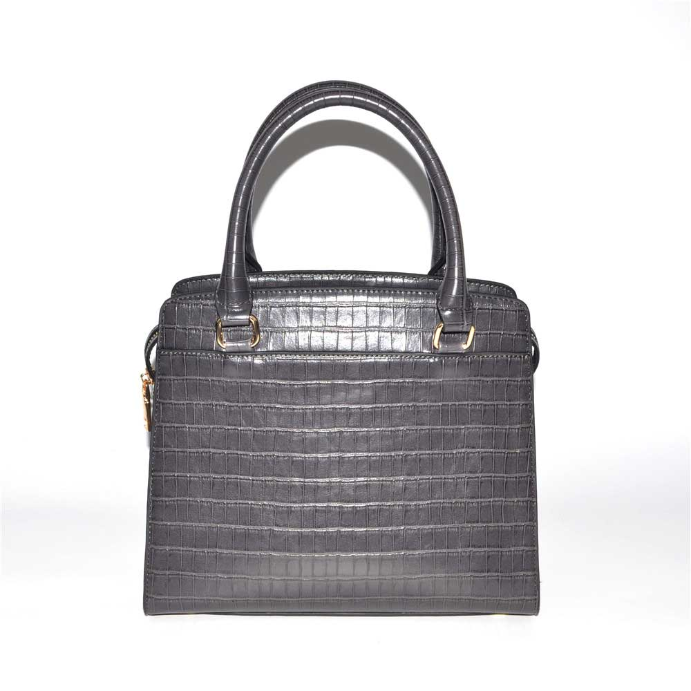 PU Leather Grey Satchel Bag