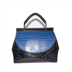 Contrast Color Croco Bag Fashion Lady Handbag