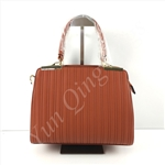 Vertical Embossed Satchel Bag