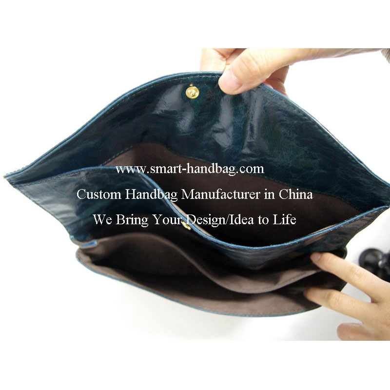 Folded Leather Clutch Bag Evening Clutch