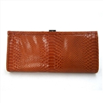 Genuine Leather Snake texture Clutch Evening Bag