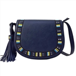 Flap Embroidery Crossbody Bag