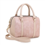 Beige Satchel Boston Bag