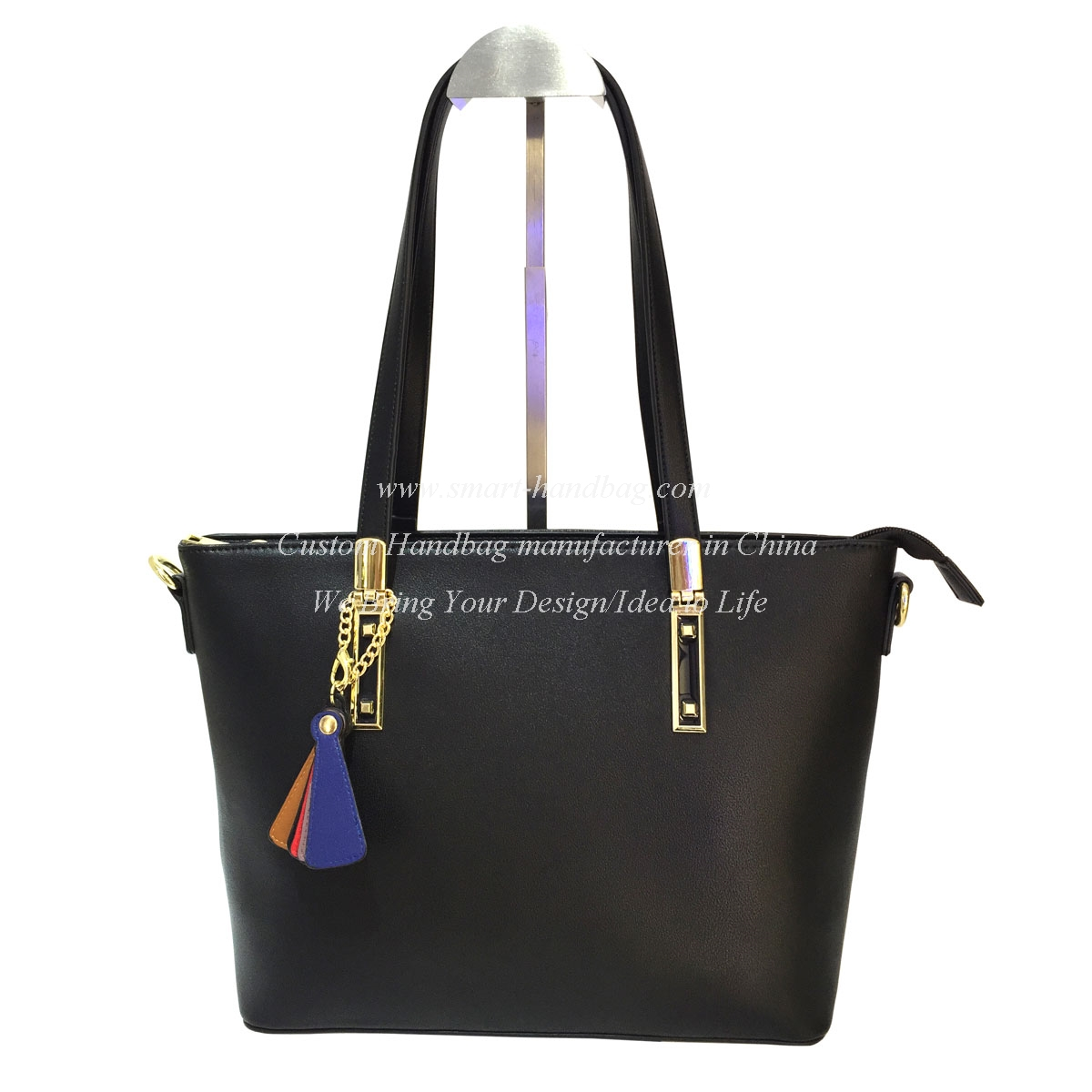 European Style Tote with Colorful Hanger