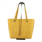 Reversible Bie-color Tote Bag With Inside Ponch