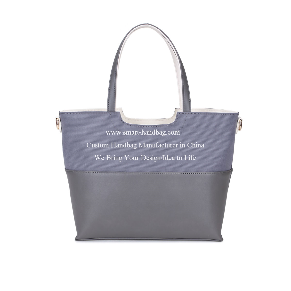 Canvas Sachel Bag With Front Detachable Pocket