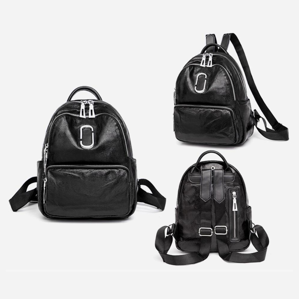 PU Fashion Soft School Shoulder Backpack