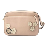 Crossbody Messenger Bag With Flowers