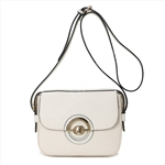 PU Crossbody Bag with Front Circle Decoration Lady Hand Bag Designer Bag