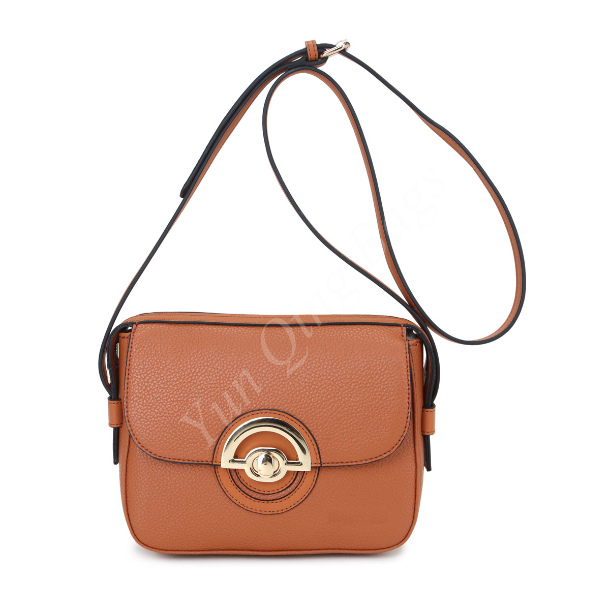 Crossbody Bag with Front Circle Decoration