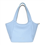 Light Blue Soft Sheepskin Hobo Bag