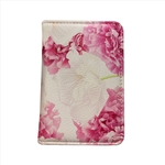 Card Holder With Pink Flower Printing
