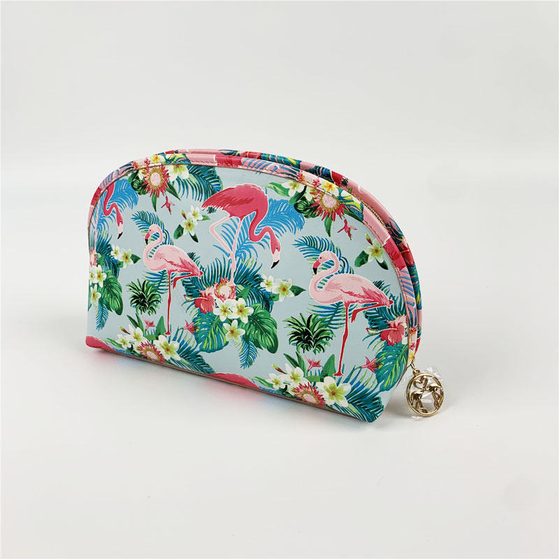 Travel Cosmetic Set With Popular Flamingo Prints