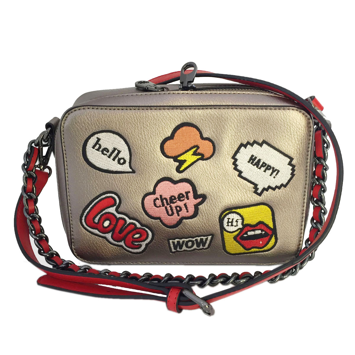 Small Crossbody Bag with Embroiery Patch