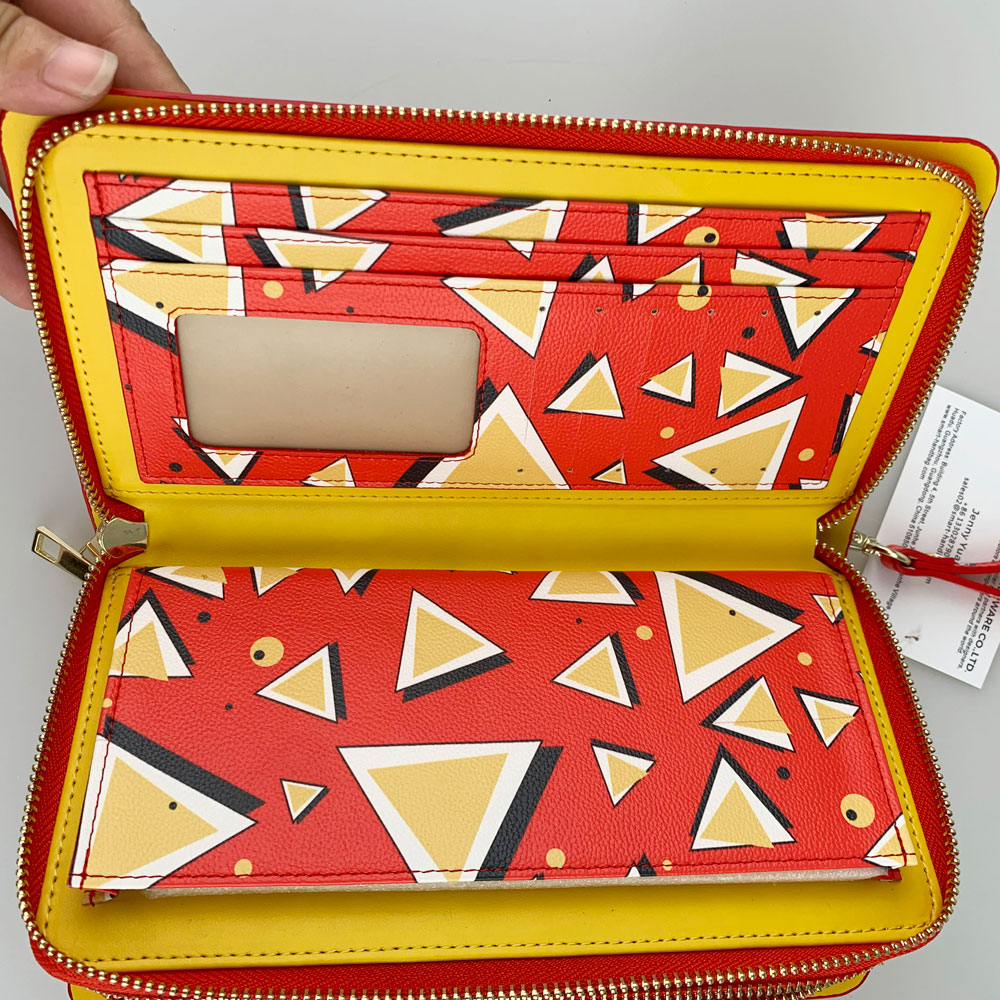 Clutch Wallet With Geometry Prints