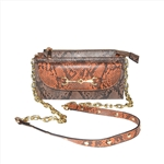 Snake PU Functional Crossbody Bag with Flat