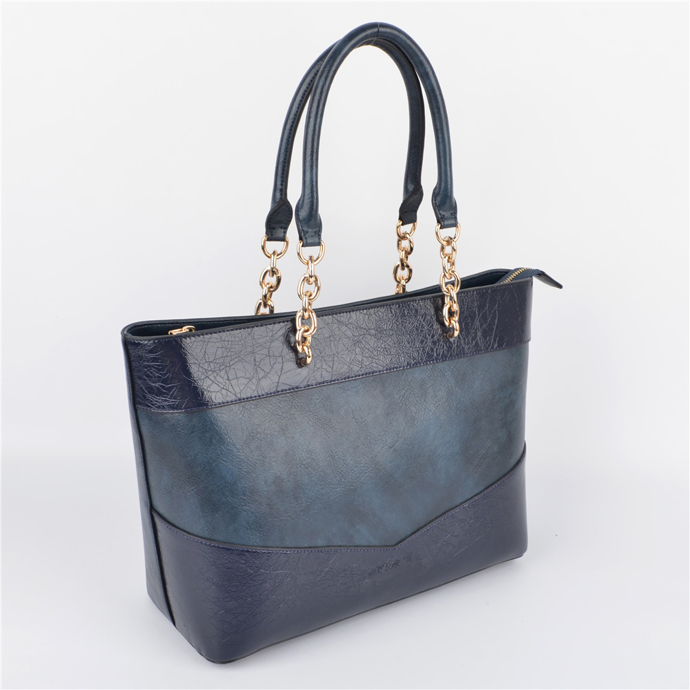 Blue Patches Women Tote Shoulder Bag