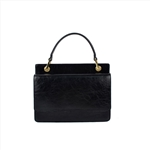 Black Color Rectangular Ladies Leather Handbag