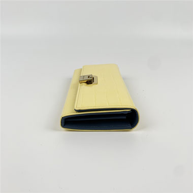 Patent stone print wallet with locker