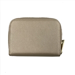 Gold Card Holder with Zipper Around
