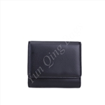 Triple Folded Small Flap Wallet Black Wallet