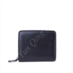 Small Zipper Around Black Wallet