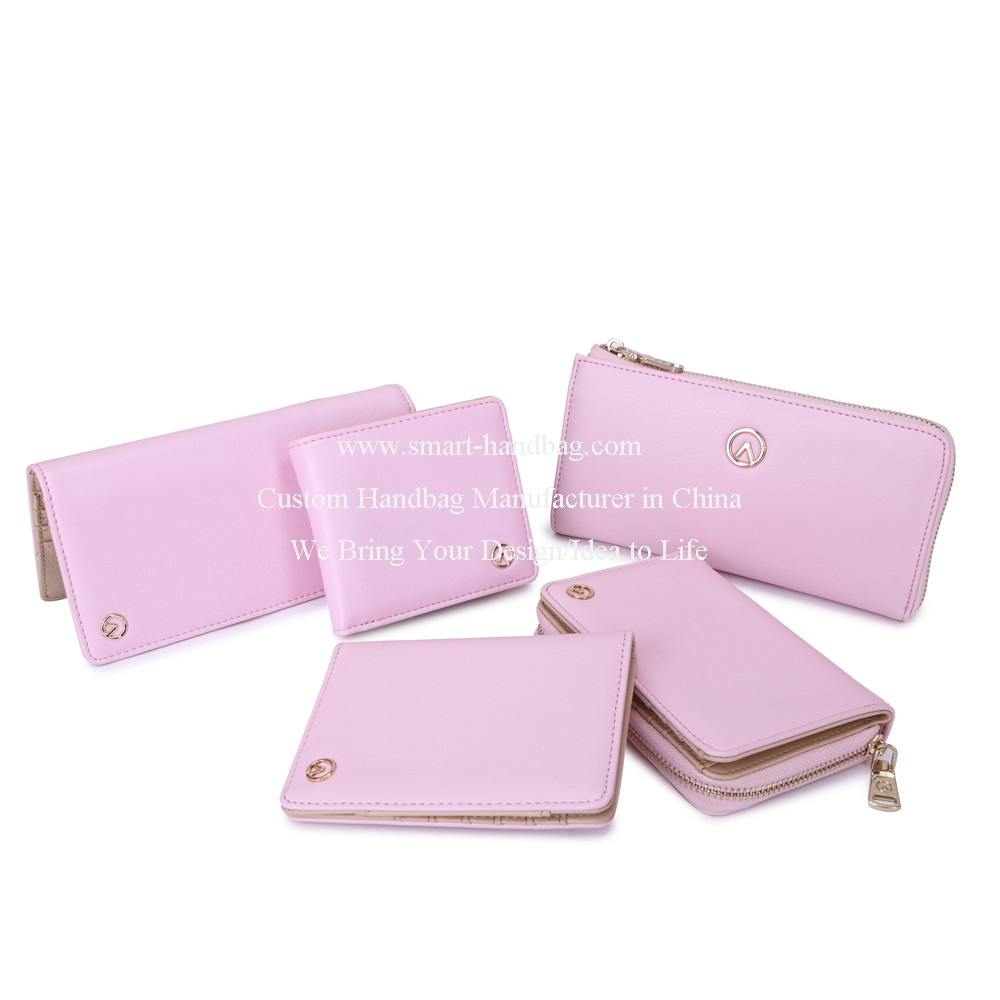 Fashion Custom Women Small Wallets Pink Wallets
